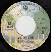 7inch Vinyl Single - Four Seasons, The Four Seasons - Who Loves You