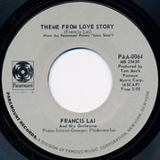 7inch Vinyl Single - Francis Lai - Theme From Love Story