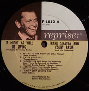 LP - Frank Sinatra • Count Basie Orchestra - It Might As Well Be Swing