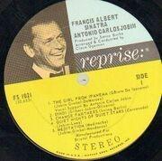 LP - Frank Sinatra, Antonio Carlos Jobim - Francis Albert Sinatra & Antonio Carlos Jobim