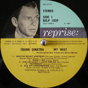 LP - Frank Sinatra - My Way - Picture Labels