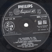 7inch Vinyl Single - Frank Sinatra - The Nearness Of You - Label Variation / Push Out Centre