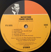 LP - Frank Sinatra - Watertown - 180 gram