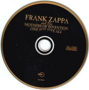 CD - Frank Zappa And The Mothers - One Size Fits All - 24kt Gold Plated Disc