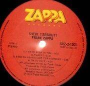 Double LP - Frank Zappa - Sheik Yerbouti - Canada