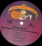 LP - Frank Zappa - Ship Arriving Too Late To Save A Drowning Witch