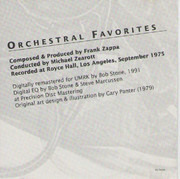 CD - Frank Zappa - Orchestral Favorites