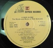 LP - Frank Sinatra - A Man Alone & Other Songs Of Rod McKuen - STILL SEALED