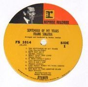 LP - Frank Sinatra - September Of My Years