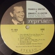 LP - Frank Sinatra With Duke Ellington - Francis A. & Edward K.