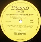 LP - Franz Schubert - Deutsche Messe