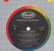 12inch Vinyl Single - Freddie Jackson - Look Around / I Can't Let You Go