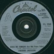 7inch Vinyl Single - Freddie Jackson - Rock Me Tonight (For Old Times Sake) - Silver Injection Label
