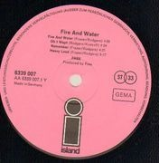 LP - Free - Fire And Water - Original 1st German pink black 'i'