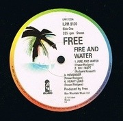 LP - Free - Fire And Water - still sealed