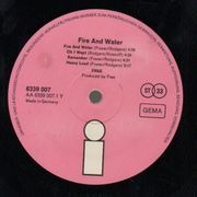LP - Free - Fire And Water - orig german pink