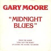7inch Vinyl Single - Gary Moore - Midnight Blues - promo