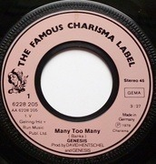 7inch Vinyl Single - Genesis - Many, Too Many / The Day The Light Went Out / Vancouver