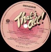 12'' - Genesis - That's All / Taking It All Too Hard / Firth Of Firth