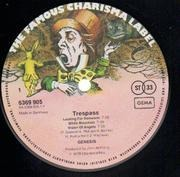 LP - Genesis - Trespass - 'ALLE URHEBER' IN RIM