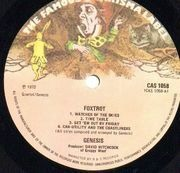 LP - Genesis - Foxtrot - A-2U / B-1U UK
