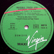 12inch Vinyl Single - Genesis - Invisible Touch