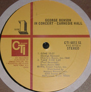 LP - George Benson - In Concert - Carnegie Hall - Gatefold
