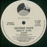 12'' - George Duke - Guilty - Promo