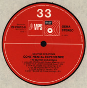 LP - George Shearing , George Shearing Quintet + Amigos - Continental Experience