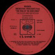 LP - Wagner (Szell) - Orchesterszenen aus 'Der Ring des Nibelungen' - Red eye stereo