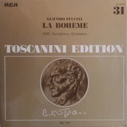 Double LP - Puccini (Toscanini) - La Bohème - Hardcoverbox + booklet / Mono