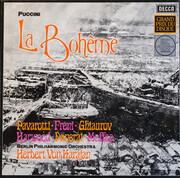LP-Box - Giacomo Puccini - Luciano Pavarotti · Mirella Freni · Nicolai Ghiaurov · Elizabeth Harwood · Roland - La Bohème - booklet with libretto