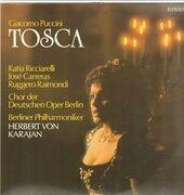 Double LP - Giacomo Puccini / Herbert Von Karajan , Berliner Philharmoniker, K. Ricciarelli, J. Carreras - Tosca - gatefold, bookler with libretto