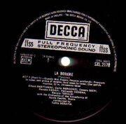 LP-Box - Giacomo Puccini / Renata Tebaldi , Carlo Bergonzi , Ettore Bastianini , Cesare Siepi , Fernando Cor - La Bohème - FFSS, Hardcover Box + Booklet