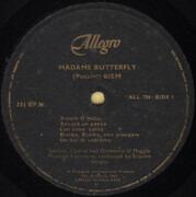 LP - Giacomo Puccini - Madame Butterfly