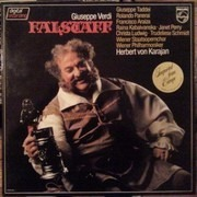 LP-Box - Giuseppe Verdi / G. Taddei, R. Panerai, Karajan, Wiener Philharmoniker - Falstaff - booklet with libretto
