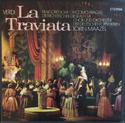 Double LP - Giuseppe Verdi - Pilar Lorengar , Giacomo Aragall , Dietrich Fischer-Dieskau , Chor der Deutschen O - La Traviata