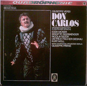 LP - Giuseppe Verdi , Edda Moser , Brigitte Fassbaender , Nicolai Gedda , Dietrich Fischer-Dieskau , Kur - Don Carlos