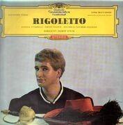 LP - Verdi ,Vivarelli , Fischer-Dieskau , Kozub , Stein - Rigoletto - tulip rim