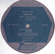 Double LP - Verdi - Igor Markevitch w/ Moscow Philharmonic Orch. - Requiem