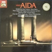 LP-Box - Verdi/ Mirella Freni , José Carreras , Agnes Baltsa , Karajan - Aida - booklet with libretto