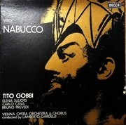 LP-Box - Giuseppe Verdi / Orchester Der Wiener Staatsoper , Lamberto Gardelli - Nabucco - booklet with libretto