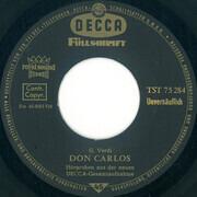 7inch Vinyl Single - Giuseppe Verdi ' Johann Sebastian Bach - Don Carlos / Johannes Passion