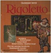 LP - Giuseppe Verdi - Rigoletto (Großer Querschnitt In Deutscher Sprache)