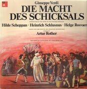 LP - Giuseppe Verdi - Die Macht des Schicksals,, Artur Rother, Hilde Scheppan