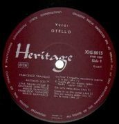 LP - Giuseppe Verdi - Otello