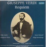 Double LP - Giuseppe Verdi, Hilde Zadek, Boris Christoff,... - Requiem