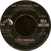 7inch Vinyl Single - Glenn Yarbrough - Baby The Rain Must Fall / The Honey Wind Blows