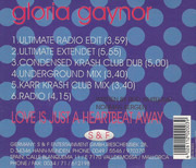 CD Single - Gloria Gaynor - Love Is Just A Heartbeat Away