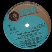 LP - Gloria Gaynor - Never Can Say Goodbye